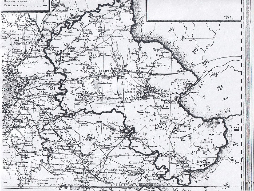Карта промышленности богородского уезда.